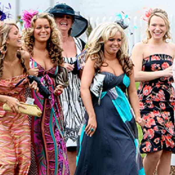 Ladies going to the races