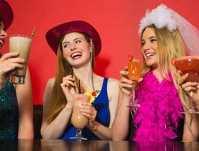girls on the town hen party