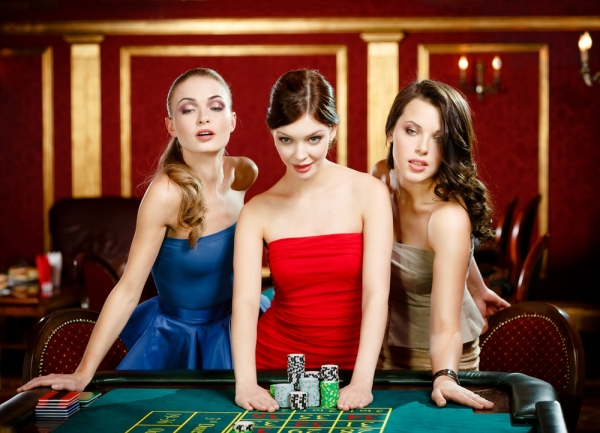 Ladies playing casino