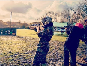 girls clay pigeon shooting, hen party idea