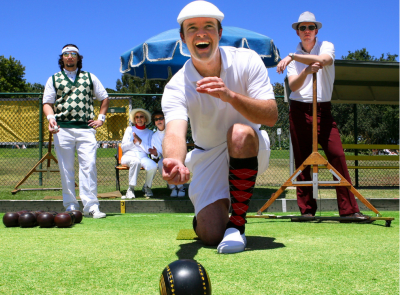 Hen party idea and stag party idea lawn bowls