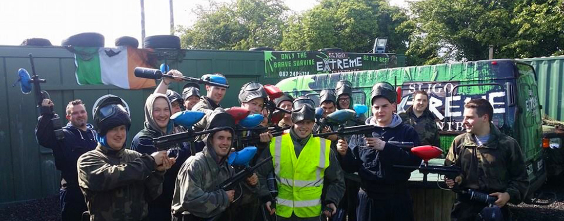 Men doing paintball